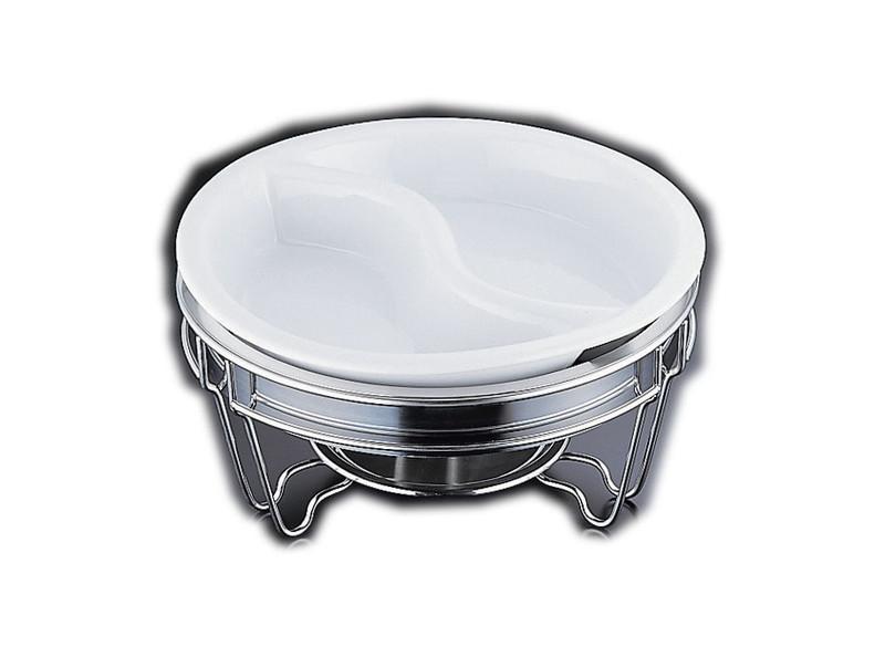 [TKG16-1442] ヴァンセンヌ 丸チェーフイング MF仕様 陶器S仕切中皿 目皿付
