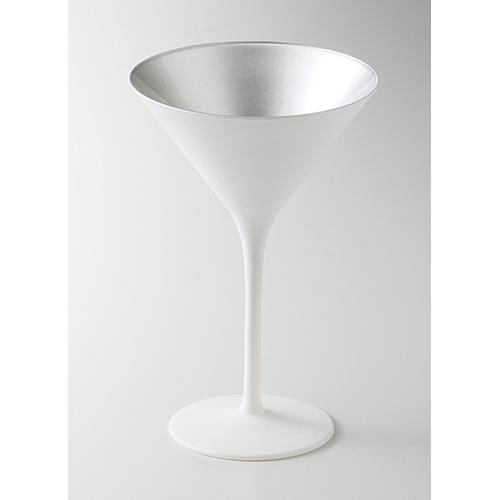Stolzle Lausitz オリンピック カクテル マットホワイト シルバー●6個入 カクテルグラス(1680円/1個)