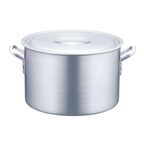 半寸胴鍋 アルミニウム(アルマイト加工) (目盛付)TKG60cm 半寸胴鍋