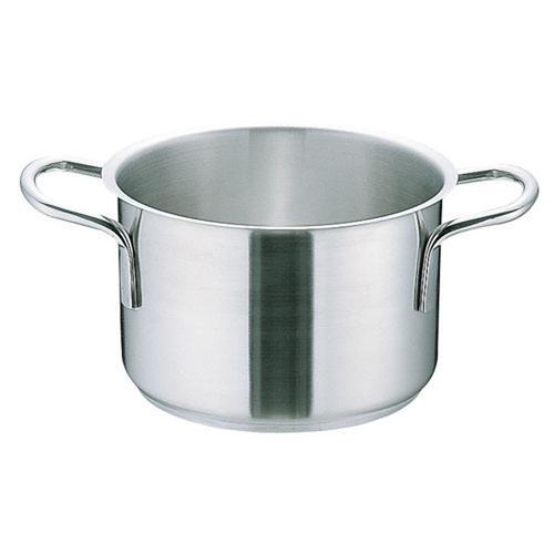 鍋類 煮込み スープ Murano インダクション18-8 半寸胴鍋 (蓋無)60cm 半寸胴鍋 料理道具 18.8ステンレス 業務用 8-0005-0210