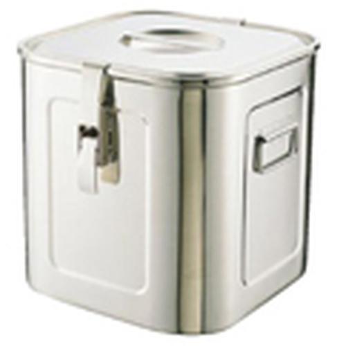 18-8 パッキンフック付角キッチンポット (手付)33cm 密閉保存容器