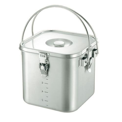 KO 19-0 角型 給食缶 18cm 給食用飯缶