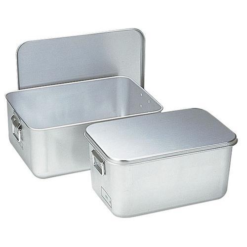 アルマイト プレス製給食用パン箱(蓋付) 25845個入 給食用パン箱