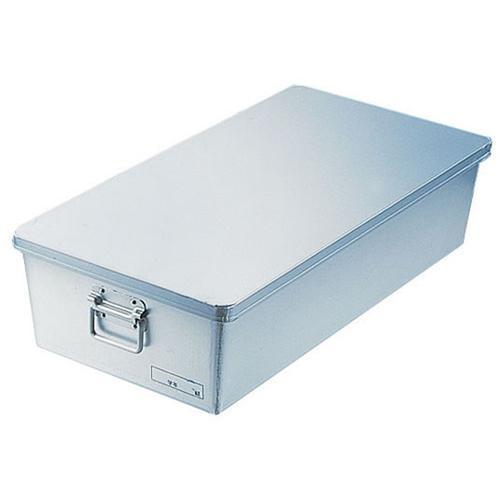 アルマイト 給食用パン箱浅型(蓋付) 26060個入 給食用パン箱