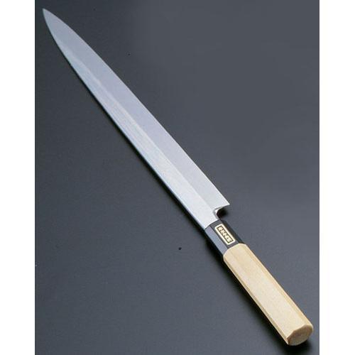 SA佐文 本焼鏡面仕上 柳刃木製サヤ 30cm 和庖丁(刺身)