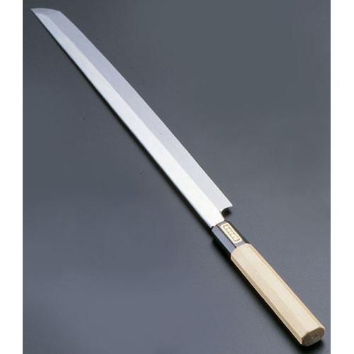 SA佐文 本焼鏡面仕上 蛸引木製サヤ 30cm 和庖丁(刺身)