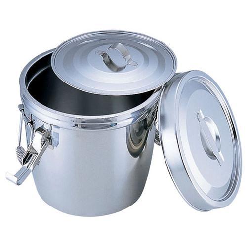 SA18-8 ダブル汁食缶(フック付) 14l(両手付) 汁食缶