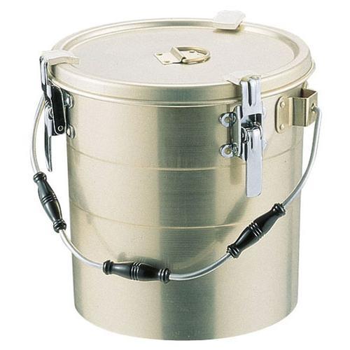 アルマイト 丸型二重クリップ付食缶 238-A(10l) 食缶