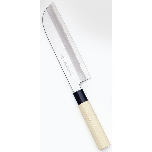 堺實光 特製霞 鎌薄刃(片刃) 19.5cm34354 和庖丁(菜切)