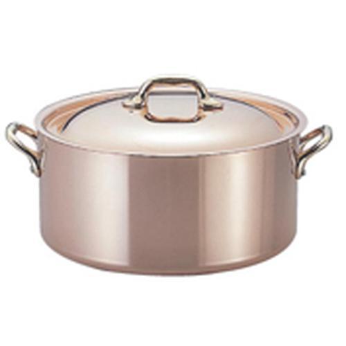 Mauviel モービルカパーイノックス半寸胴鍋(蓋付) 6522.24 24cm 寸胴鍋