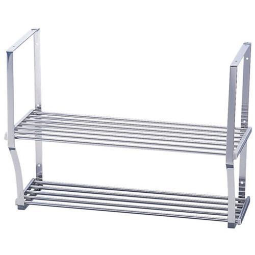 日本製 作業台 キッチン収納 TY18-0吊下棚(パイプ棚2段タイプ) PA2-180 棚 厨房機器・設備 パイプ・中止め補強・枠・木ネジ/ステンレス 樹脂部/ナイロン 業務用 8-0763-0304