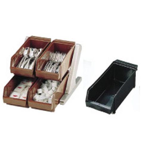 SA18-8 デラックス オーガナイザー 2段2列(4ヶ入)ブラック カトラリーボックス