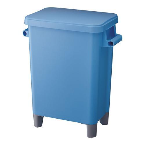 リス 厨房用脚付ペール(蓋・排水栓付) 70型ブルー ペール(厨房用)
