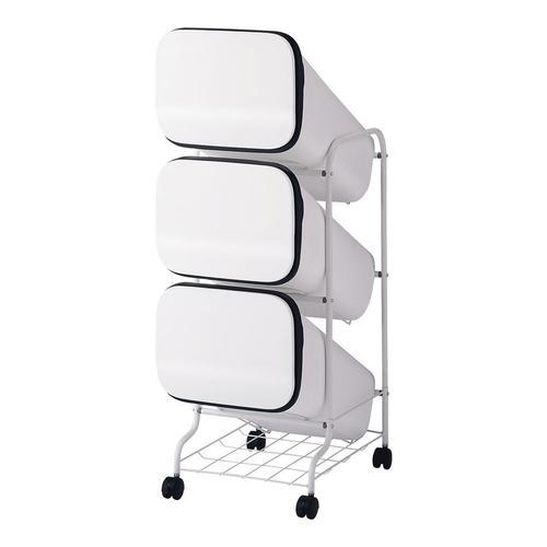 スムーススタンドダストボックス 4段ホワイト ゴミ箱