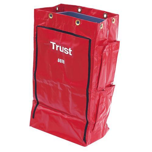 Trust トラスト クリーニングカート用 ポリライナー6978レッド クリーニングカート