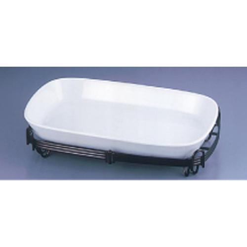 TKG角バルドスタンドセット 白 39-1011-39W ビュッフェ用大皿(洋食器)