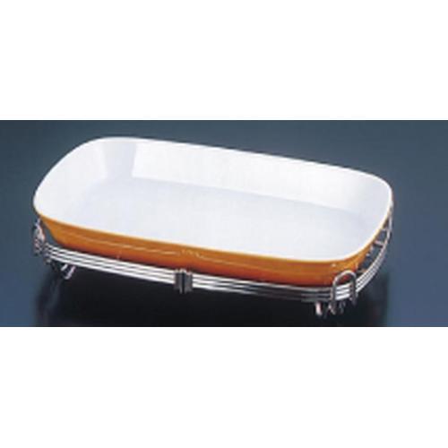 TKG18-8 角アストラル スタンドセット 茶39-1011-39B ビュッフェ用大皿(洋食器)