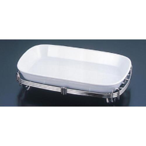 TKG18-8 角アストラル スタンドセット 白39-1011-39W ビュッフェ用大皿(洋食器)