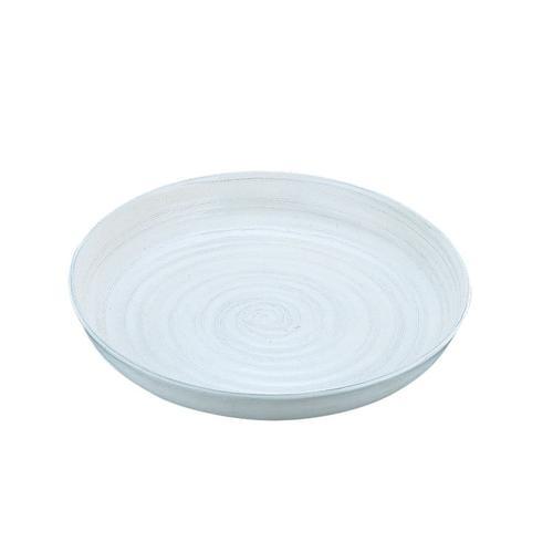 アルミ電磁用ドラ鉢 白刷毛目 尺2 ビュッフェ用大皿(和食器)