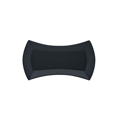 SCHONWALD イベント スリムプラター ブラック 45 (ガラス製)9322695 ビュッフェ用大皿(洋食器)