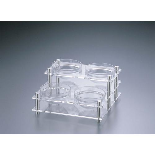 アクリル コンディメントスタンド 2段4穴B30-2 ビュッフェ用大皿(洋食器)