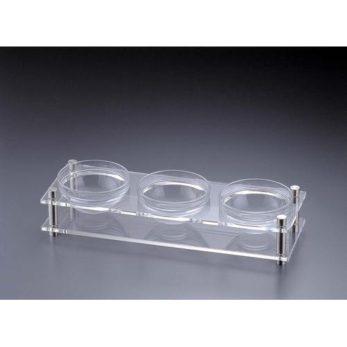 アクリル コンディメントスタンド 1段3穴B30-3 ビュッフェ用大皿(洋食器)