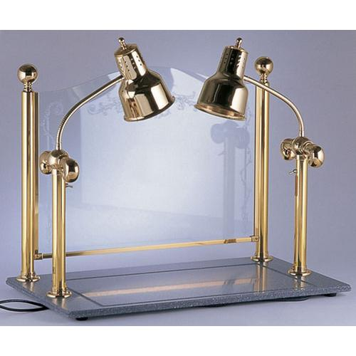 ヒートランプウォーマー 2灯タイプ (カービングディスプレー付) ランプウォーマー