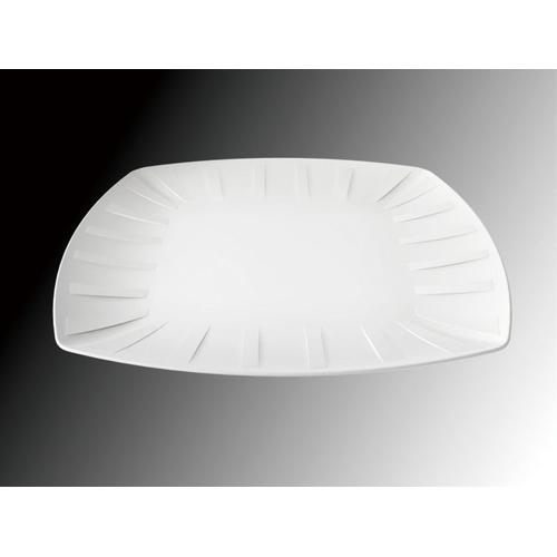 KINGO KINGO ストライプ模様 角プレート 大 ビュッフェ用大皿(洋食器)