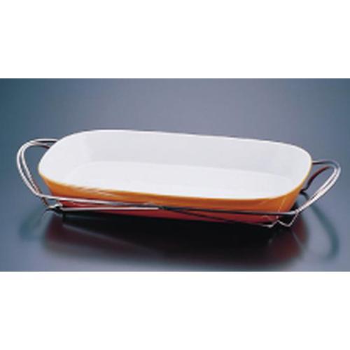 SAシャトレ 角グラタンセット 9-1011-39B ビュッフェ用大皿(洋食器)