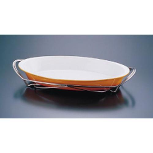 SAシャトレ ツバ付小判グラタンセット 12-1011-42B ビュッフェ用大皿(洋食器)