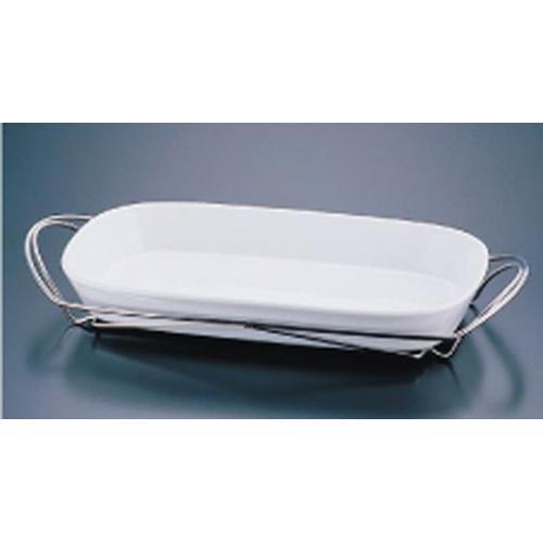 SAシャトレ 角グラタンセット 9-1011-39W ビュッフェ用大皿(洋食器)