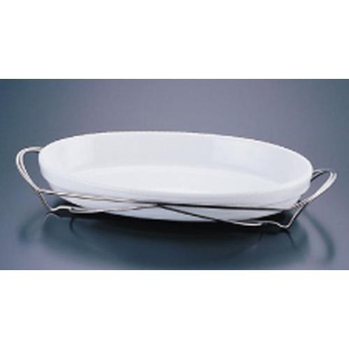SAシャトレ 小判グラタンセット 13-3011-36W ビュッフェ用大皿(洋食器)
