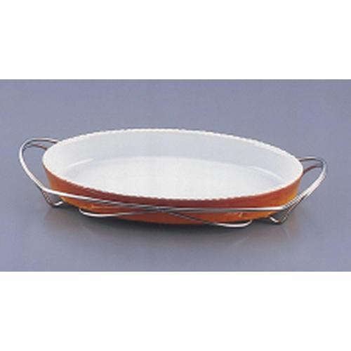 SAシャトレ 小判グラタンセット 12-PC200-40茶 ビュッフェ用大皿(洋食器)