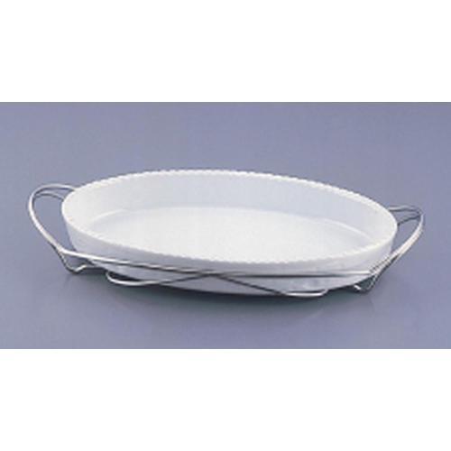 SAシャトレ 小判グラタンセット 13-PB200-38白 ビュッフェ用大皿(洋食器)