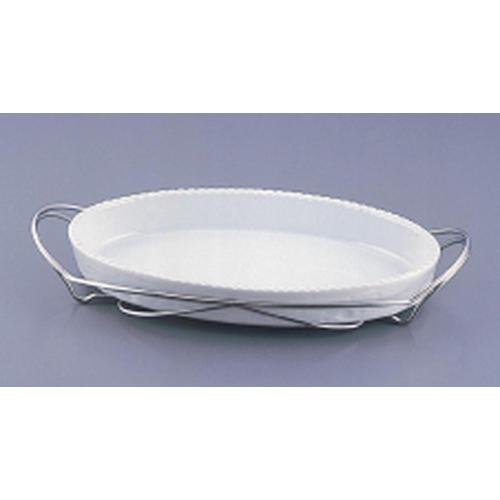 SAシャトレ 小判グラタンセット 13-PB200-36白 ビュッフェ用大皿(洋食器)