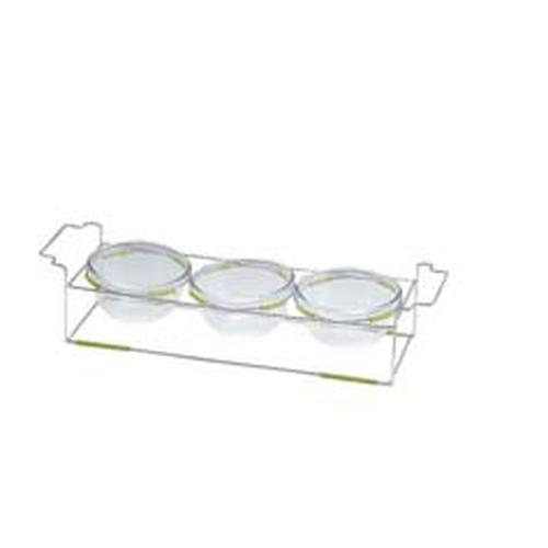 ワイヤースタンドセット(18cmボール付) BQ9909-1803(GR) ビュッフェ用大皿(洋食器)