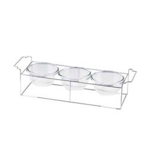 ワイヤースタンドセット(15cmボール付) BQ9909-1503(WH) ビュッフェ用大皿(洋食器)