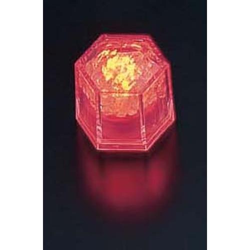 ライトキューブ・クリスタル 標準輝度 (24個入)オレンジ LEDキャンドル