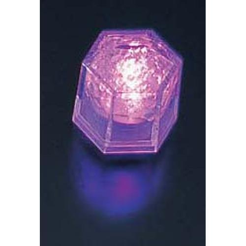 ライトキューブ・クリスタル 高輝度 (24個入)パープル LEDキャンドル