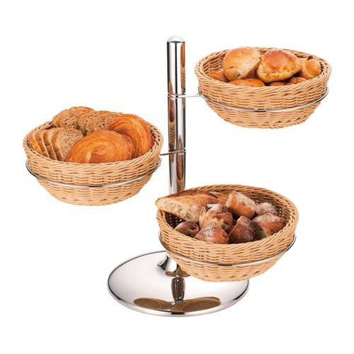 PPラタン製パンかごスタンド丸型 パンかごスタンド
