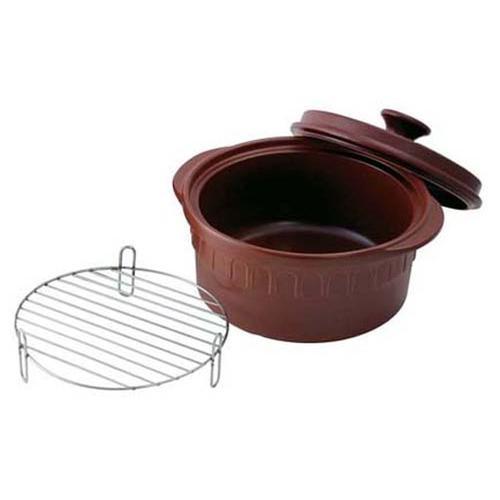ニュートーセラム 両手鍋深型 22cm TSR-190CM-S(茶) 深型鍋