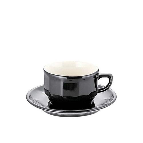 APILCO フローラティーカップ&ソーサー(6客入) PTFLTFLブラック コーヒー&紅茶