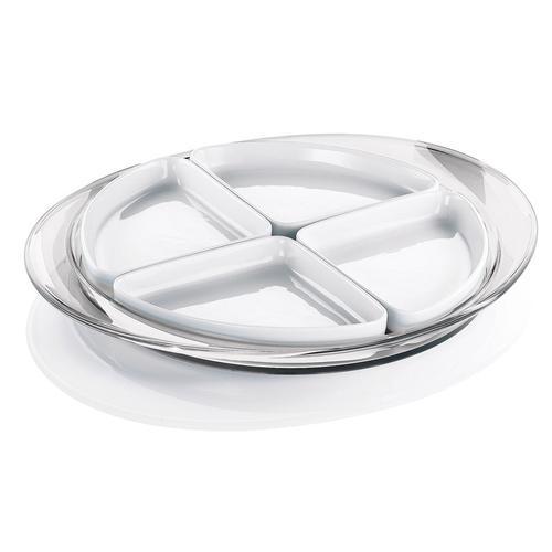 guzzini グッチーニ オードブルディッシュ 2291.0000クリアー 洋食器