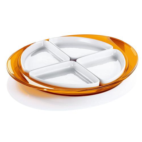 guzzini グッチーニ オードブルディッシュ 2291.0045オレンジ 洋食器