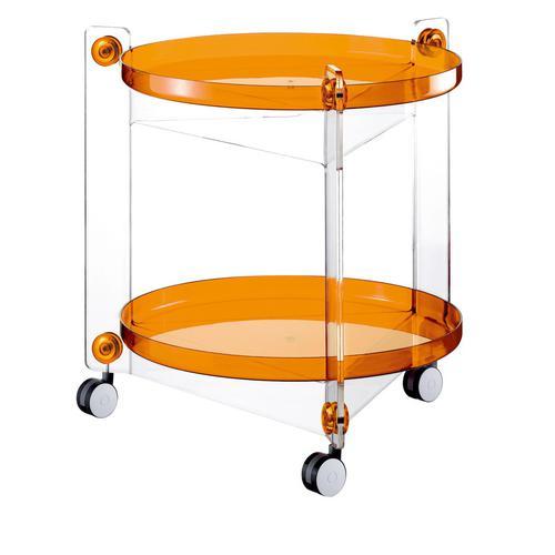 guzzini グッチーニ ラウンドトローリー 0115.0145オレンジ インテリアワゴン