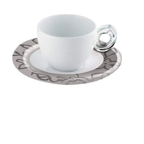 guzzini グッチーニ エスプレッソカップ6客セット 2482.0022グレー 洋食器
