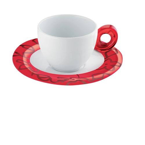 guzzini グッチーニ エスプレッソカップ6客セット 2482.0065レッド 洋食器