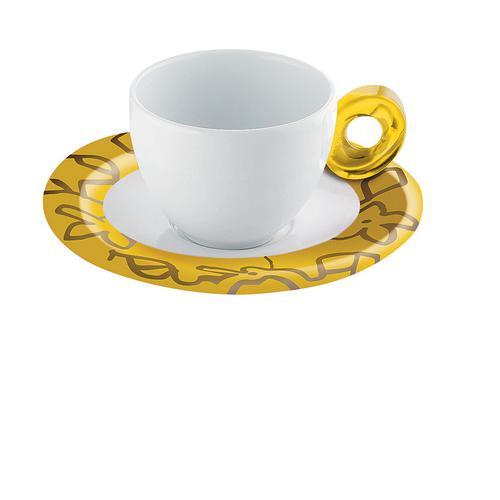 guzzini グッチーニ エスプレッソカップ6客セット 2482.0088イエロー 洋食器
