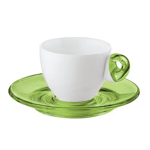 guzzini グッチーニ エスプレッソカップ6客セット 2232.0344グリーン 洋食器