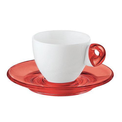 guzzini グッチーニ エスプレッソカップ6客セット 2232.0365レッド 洋食器